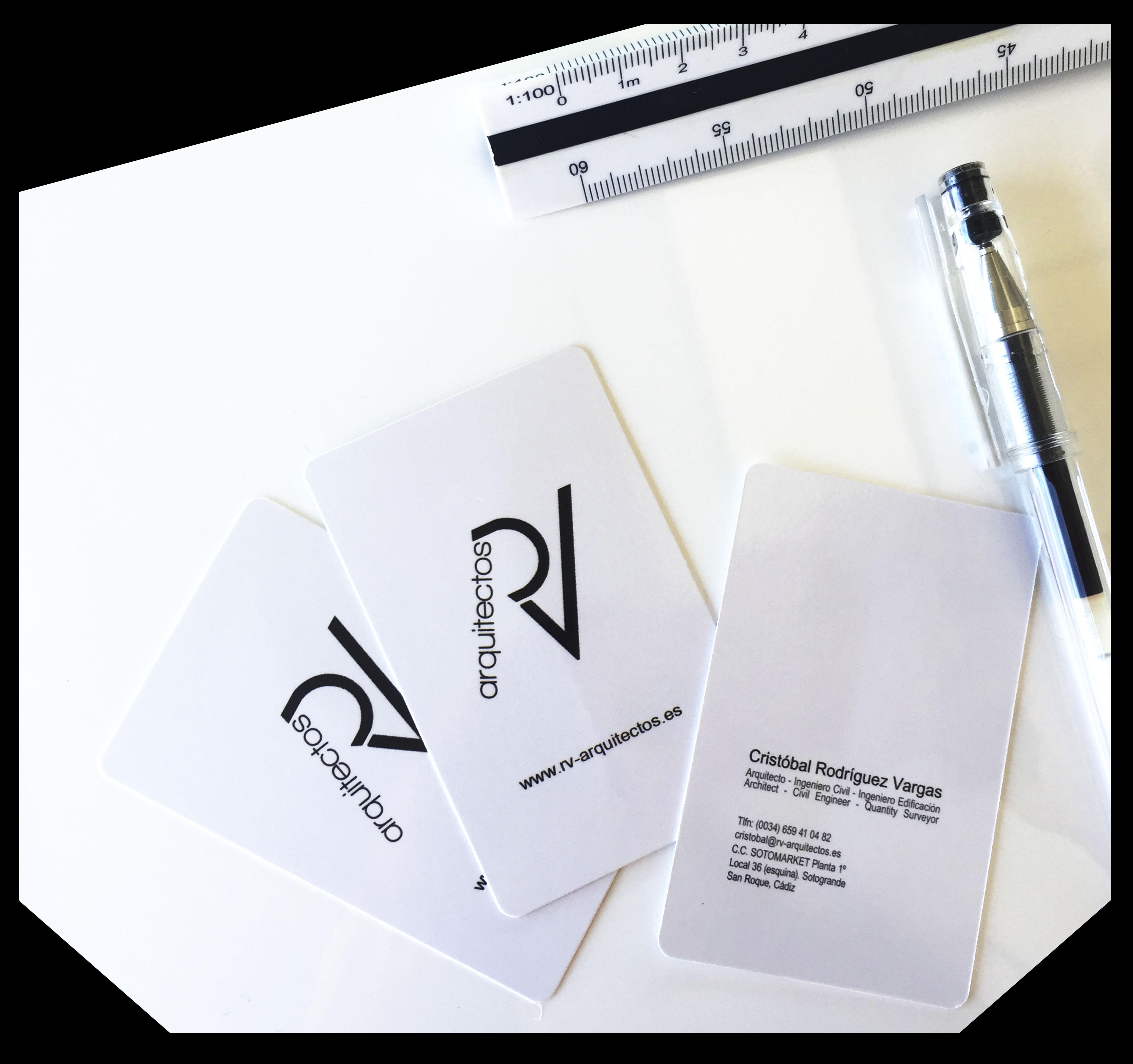 Nuevas Tarjetas de Presentación RV-Arquitectos | RV-Arquitectos