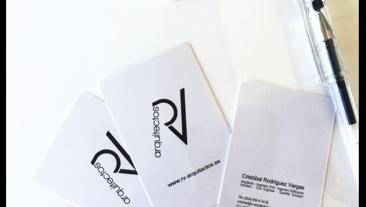 Rv architects business cards rv arquitectos rv architects business cards colourmoves